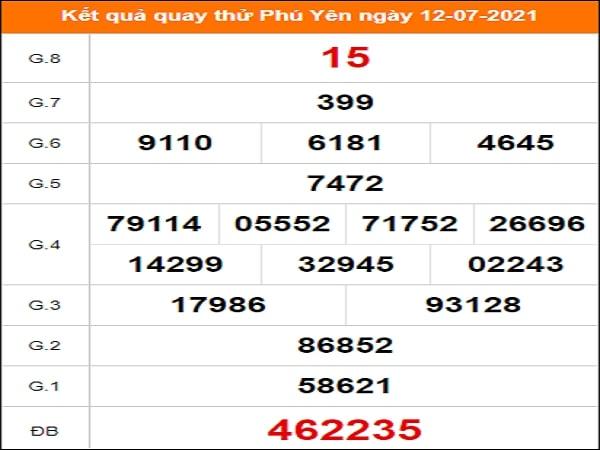 Tham khảo kết quả quay thử xổ số ngày 12/07/2021