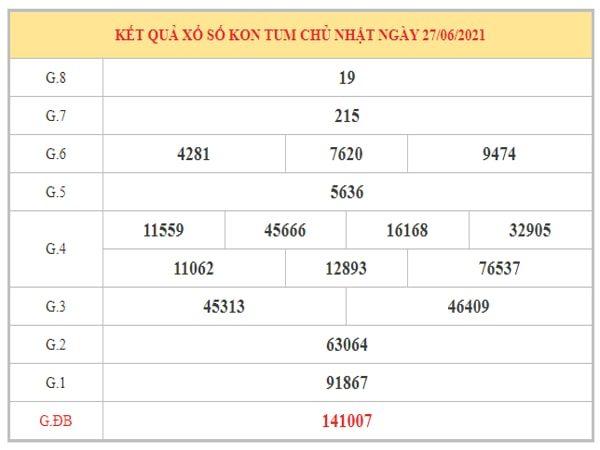 Phân tích KQXSKT ngày 4/7/2021 dựa trên kết quả kì trước